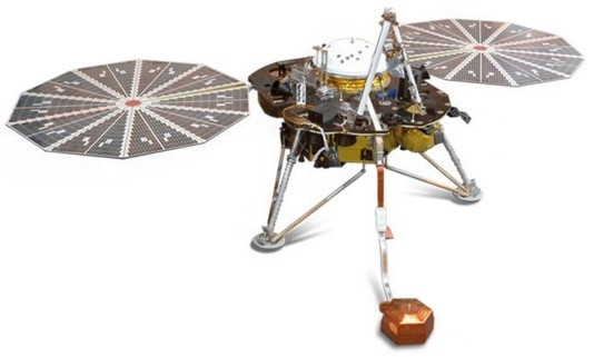 The InSight Lander (© NASA/JPL).