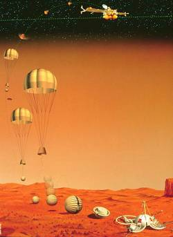 The Mars 96 capsule landing sequence (© David Ducros).