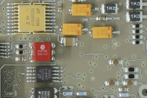 Detail of the feedback loop control board (© IPGP).