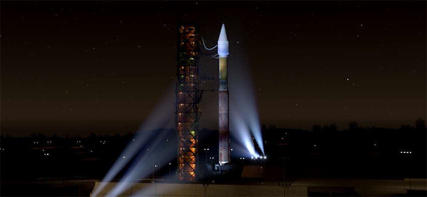 The Atlas V 401 rocket will lift off from the Launch Complex n°3 from Vandenberg Air Force base (© NASA).