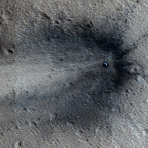 A recent impact on the surface of Mars (© NASA/JPL/University of Arizona).