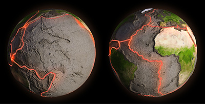 Plate tectonics on Earth (© Adobe Stock).